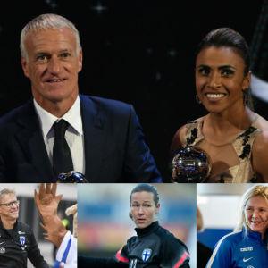 Luka Modric, Didier Deschamps, Marta, Tim Sparv, Markku Kanerva, Tinja-Riikka Korpela och Anna Signeul