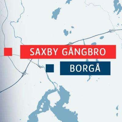 Karta över broar i Borgå