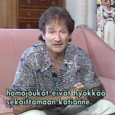 Robin Williams A-Brosin haastattelussa 1996.