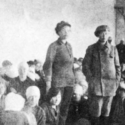 Naisvankeja Hennalassa 1918