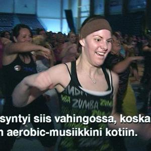 Naiset zumbaavat, ote ohjelmasta Sportmagasinet (2010)