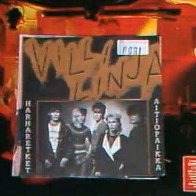 Villi Linja -yhtyeen levyn kansi ohjelmassa Kotimaan katsaus (1987)