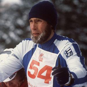 Juha Mieto Lake Placidissa vuonna 1980