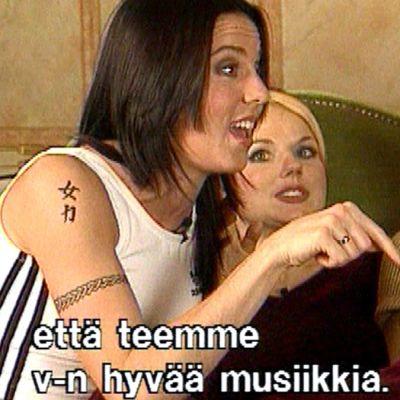 Spice Girls suosionsa huipulla 1997 ja Salla Paajasen haastateltavina.
