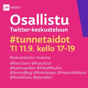 Twitter-ilta ti 11.9. klo 17-19 #tunnetaidot