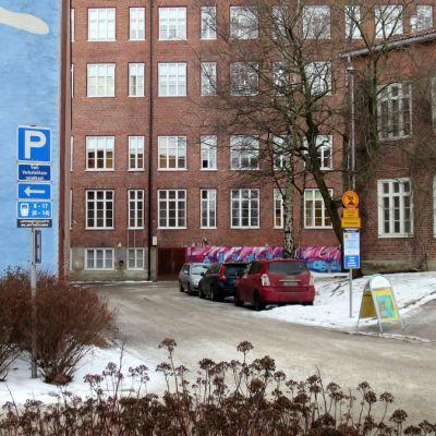 Rakennuksia talvella