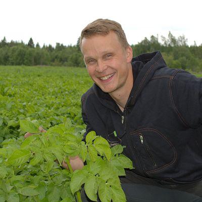 Yrittäjä Kimmo Mäkelä viljelee perunaa kotitilallaan jo kolmannessa sukupolvessa.