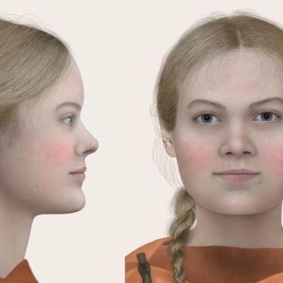 Rekonstruktio rautakauden tytöstä
