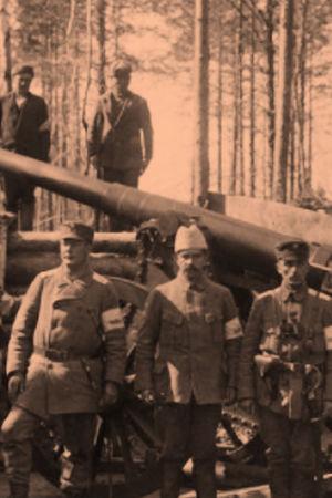 Valkoisten tykistöä Antreassa 23. huhtikuuta 1918.