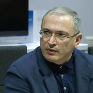 Den ryska demokratiaktivisten Michail Chodorkovskij under Finlandsbesök i november 2016.