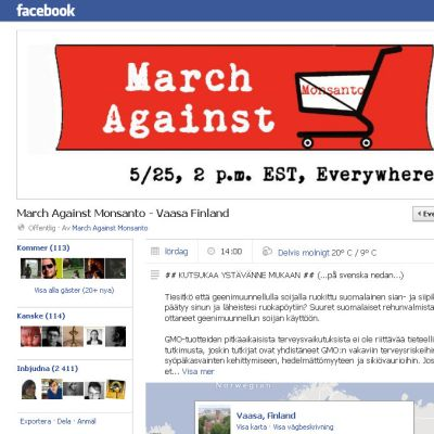 Facebookgruppen March against Monsanto i Vasa