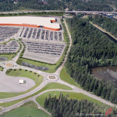 Lappeenrantaan sijoittuvan Ikea/Ikanon havainnekuva.