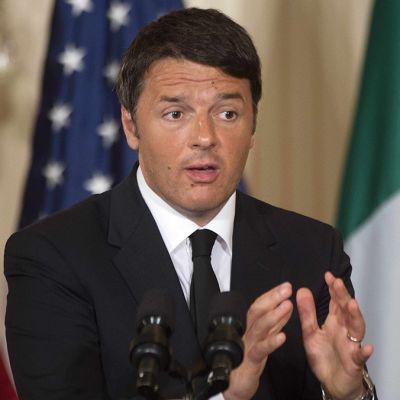 Italian pääministeri Matteo Renzi.