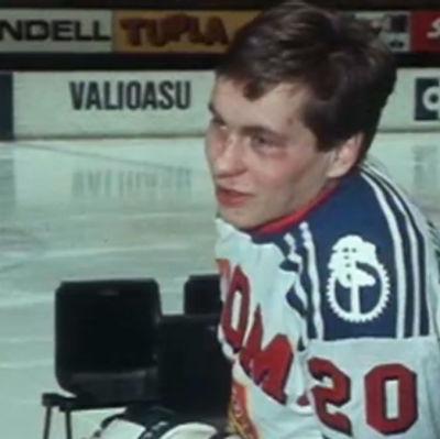 Matti Hagman vuonna 1976 haastattelussa.