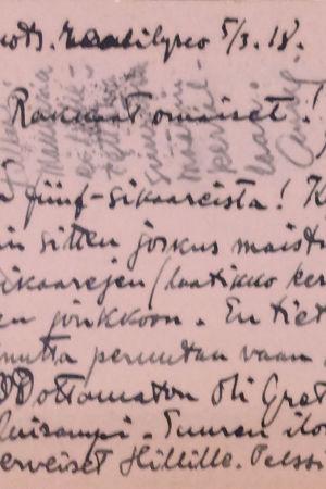 Aarre Merikannon kirje.