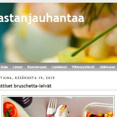 Kuvakaappaus Pastanjauhantaa-blogista.
