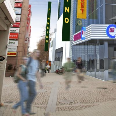 Havainnekuva tulevasta viihde- ja kauppakeskuksesta.