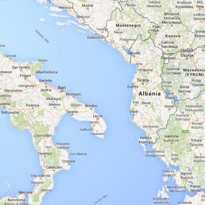 Karta över det Adriatiska havet.