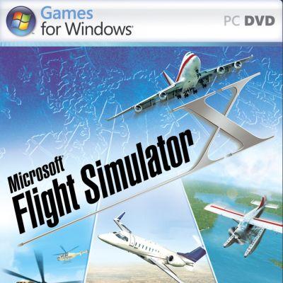 Microsoft Flight Simulator X -pelin kansi.