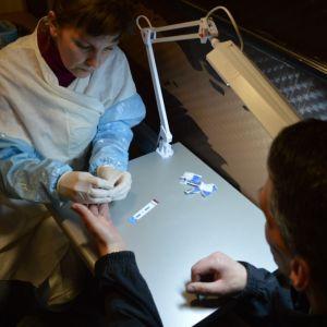 Hiv-test i Ryssland.