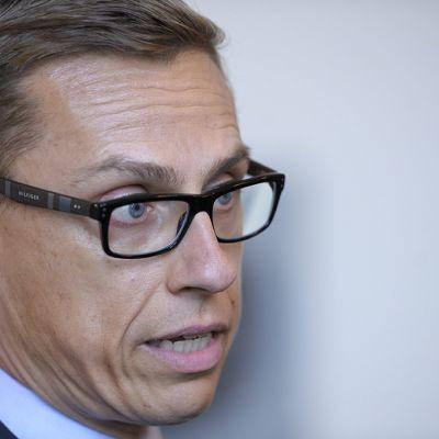 Pääministeri Alexander Stubb tiedotustilaisuudessa valtiosalissa Helsingissä tiistaina 7. lokakuuta 2014.