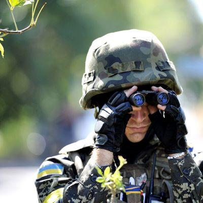 Ukrainan armeijan vapaaehtoispataljoonan sotilas.