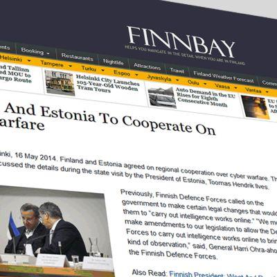 Kuvakaappaus Finnbay-nettisivustosta.