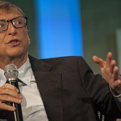Bill Gates pitää puhetta 24. syyskuuta.