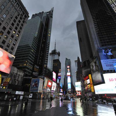 New Yorkin keskusta autiona