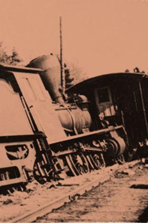 Säiniöllä radalta suistunut punaisten panssarijuna.