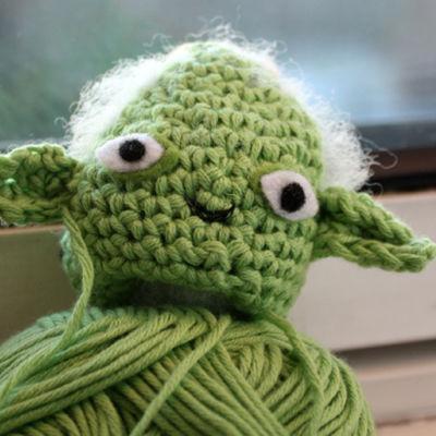 Virkattu Tähtien sodan hahmo Yoda