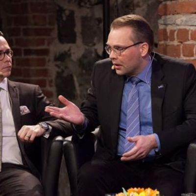 Carl Haglund och Jussi Niinistö