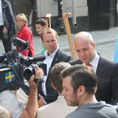 Statsminister Reinfeldt kör igång kampanjen