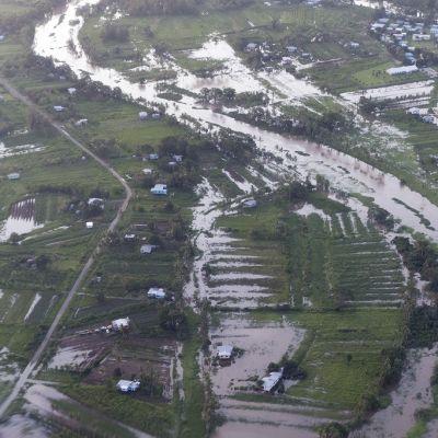 Winston -myrskyn tuhoja Suvan saarella Fidzilllä.