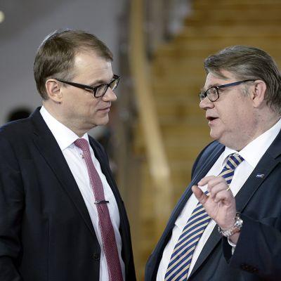 Juha Sipilä ja Timo Soini.
