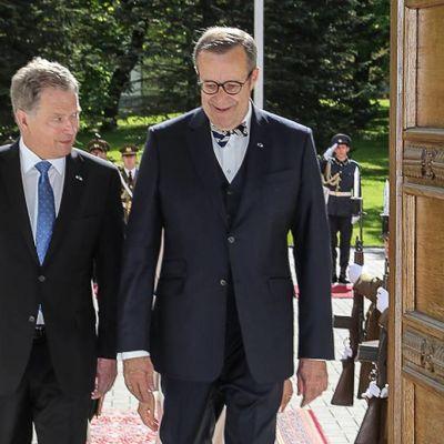 Presidentti Sauli Niinistö Virossa.