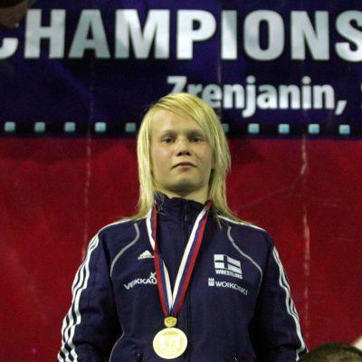 Petra Olli juniorien EM-kisoissa Zrenjanissa 2011.