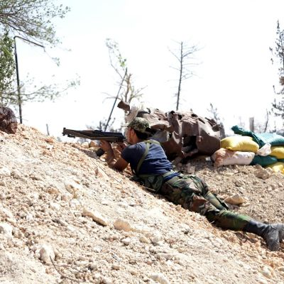 Syyrian armeijan sotilaita etenemässä kohti Aleppoa