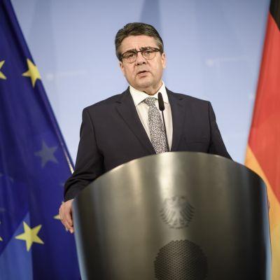 Saksan ulkoministeri Sigmar Gabriel kommentoi keskiviikkona tapaamistaan Turkin ulkoministerin kanssa.