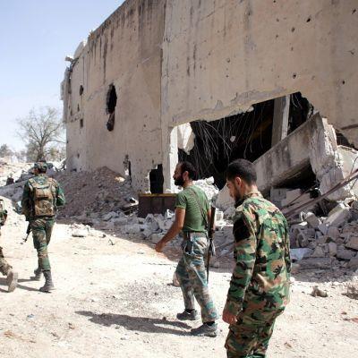 syyrian sotilaita aleppossa