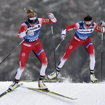Therese Johaug ja Heidi Weng kuvassa