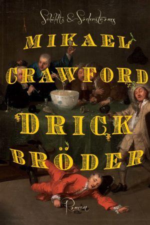 Ett tecknat bokomslag föreställandes fulla vita män runt ett bord.