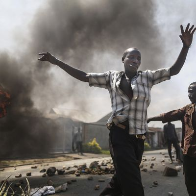 hallituksen vastaisia mielenilmaisuja Bujumburassa.