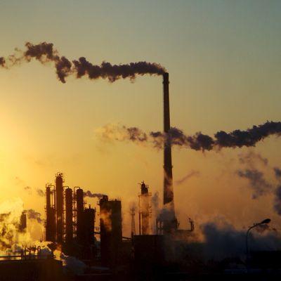 Kemianteollisuutta Pohjois-Kiinassa.