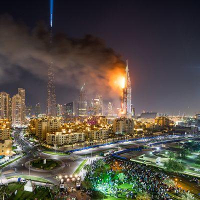 Address-hotelli tulessa Dubaissa 31. joulukuuta 2015.