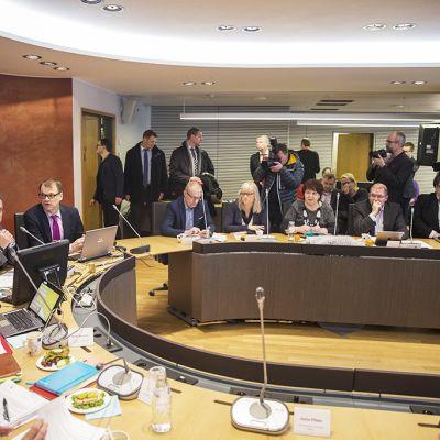 SAK:n hallitus kokoontui Hakaniemessä maanantaina.