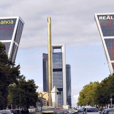 Pankkien pääkonttoreita Madridissa.