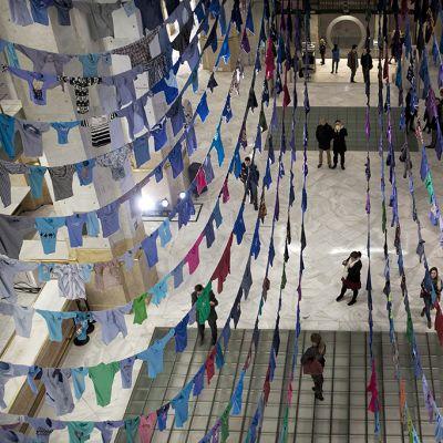 Kaikkosen installaatioteos Arco Madridissa helmikuussa 2014.