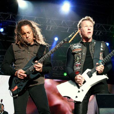 Metallican Kirk Hammet ja James Hetfield Sonisphere 2012.
