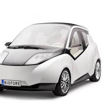 Biofore-konseptiauto on valmistettu pitkälti biomateriaaleista.